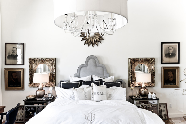 View In Gallery Eclectic Bedroom With An Ornate Design And Lots Of Mirrored Surfaces
