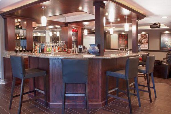 Lighting Basement Washroom Stairs: Turn Your Basement Into A Bar