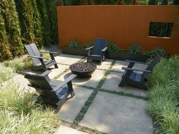 Combine Adirondack Chairs With Modern Elements For A Beautiful Design
