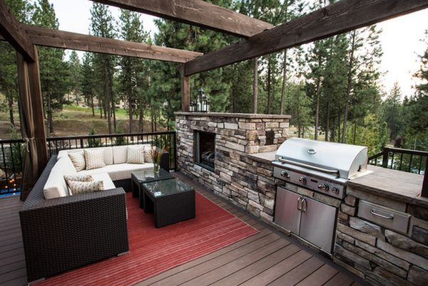 outdoor kitchen designs on a deck outdoor kitchen designs featuring pizza ovens fireplaces 180