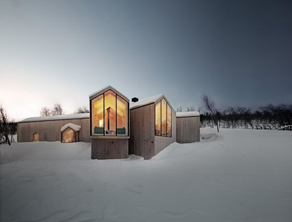 Fantastic Holiday Home In Norway Splits Into Two Branches With Stunning Views