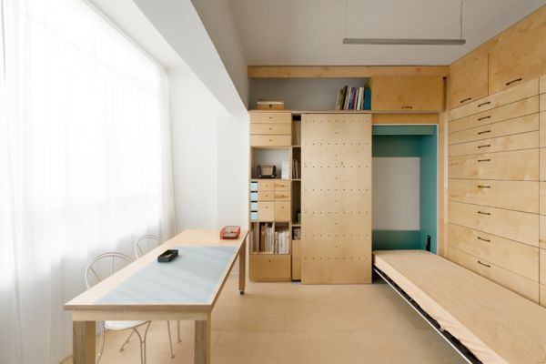 Tel aviv apartment customized into a studio workspace for Como decorar un estudio de 20 metros cuadrados