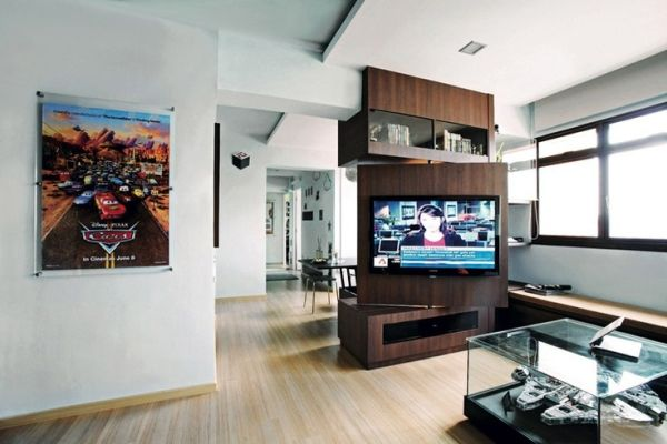 Rotating Tv Stand Room Divider