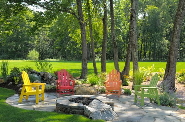 Combine Adirondack Chairs With Modern Elements For A