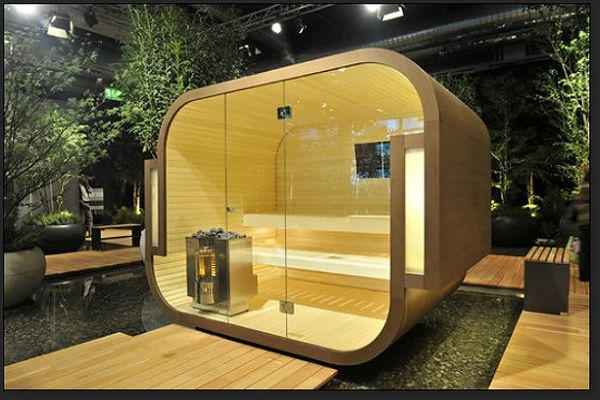17 sauna and steam shower designs to improve your home and for Sauna design plans