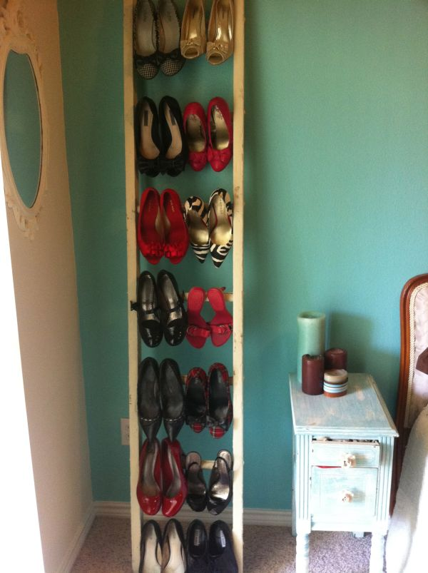 Diy shoe organizer designs a must have piece in any home ladder shoe racks solutioingenieria Image collections