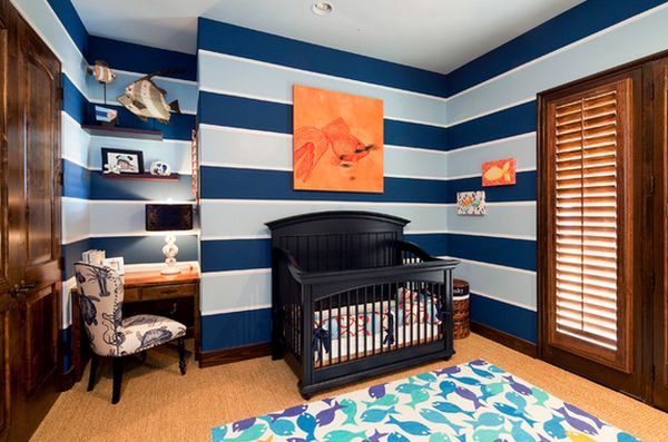 View In Gallery The Nautical Theme Is Very Suitable For A Baby Boy Nursery  ...