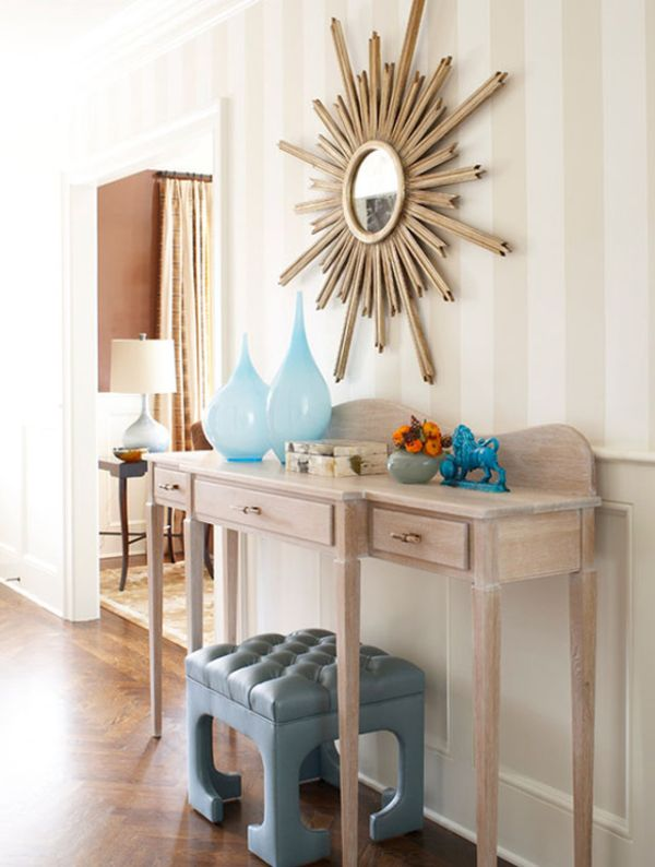 How to decorate a console table top seeing the forest Entry table design ideas