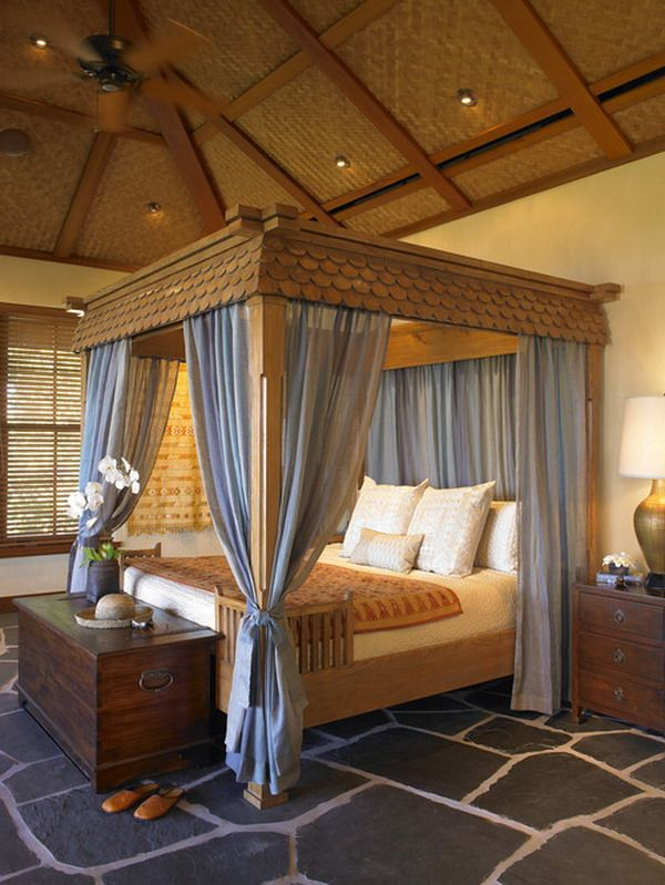 Canopy Bed Design give your bedroom a luxurious edge with a decorative canopy bed