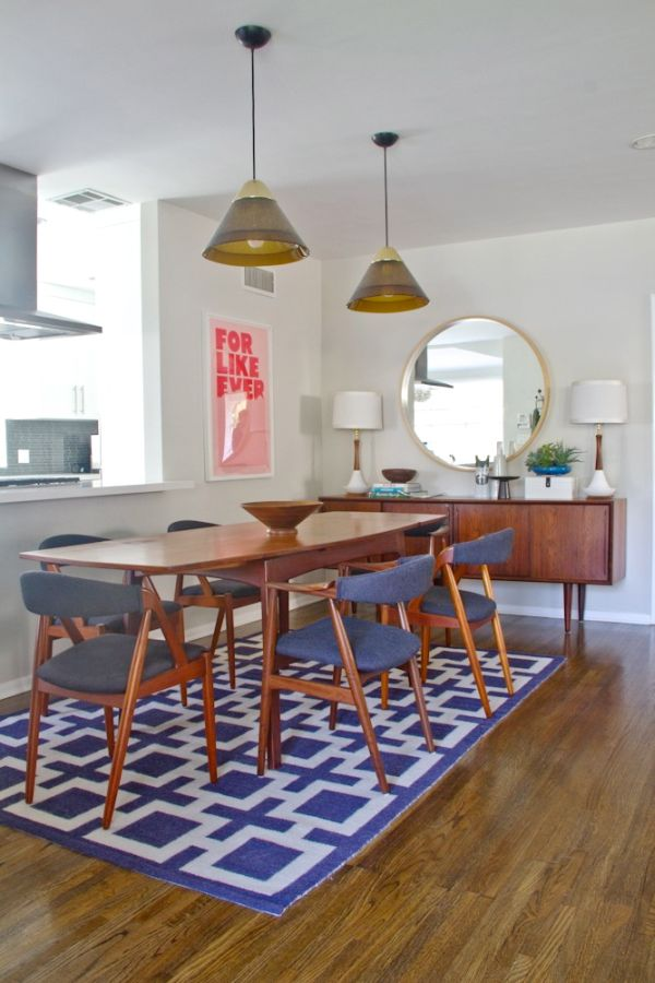 Geometric area rugs make a statement without saying a word - How to make a wool accent rug work for your space ...