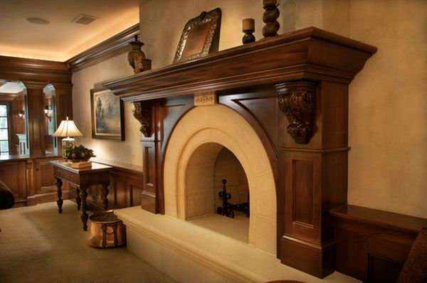 Wood Fireplace Mantels A Cozy Focal Point Element For