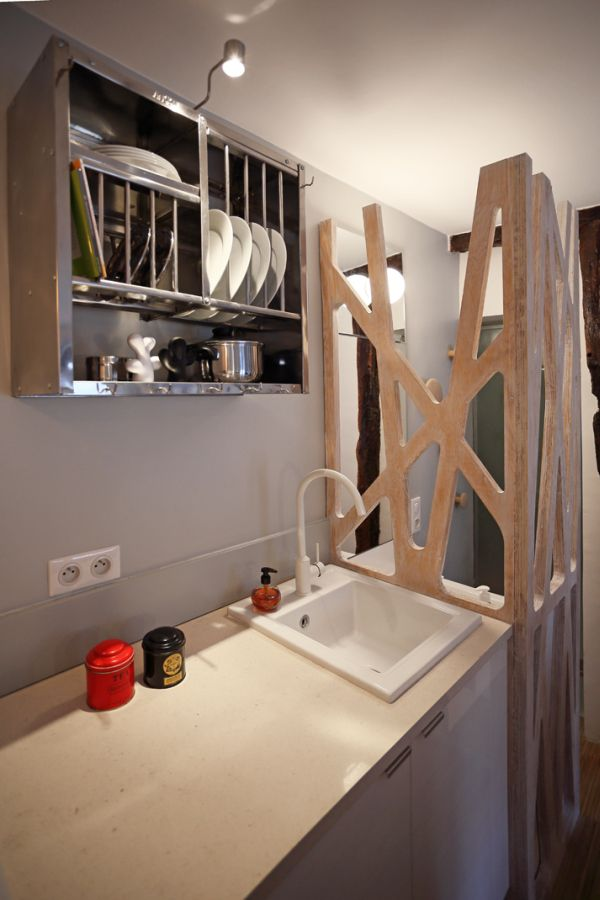 12 square meter room transformed into a mini studio - Interior designsquare meter apartment ...