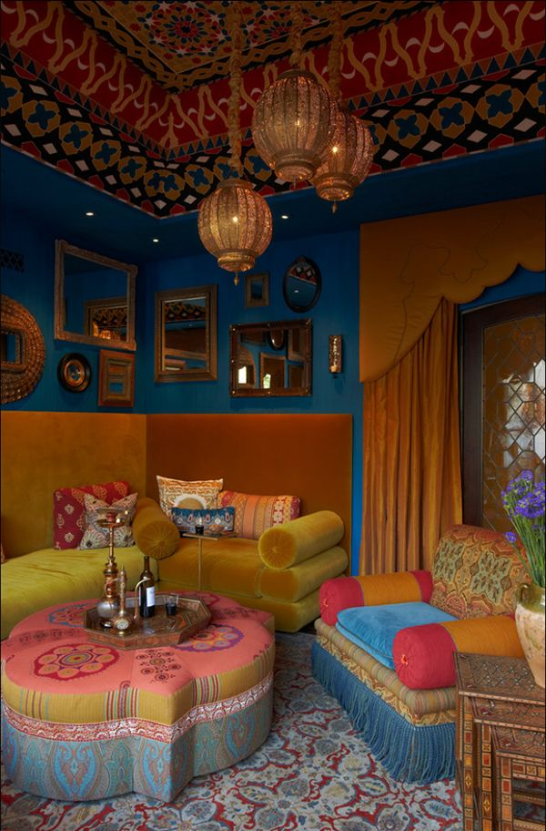 Three Must read Tips For Achieving A Bohemian D233cor In  : Bohemian living room rich colors from www.homedit.com size 600 x 912 jpeg 114kB