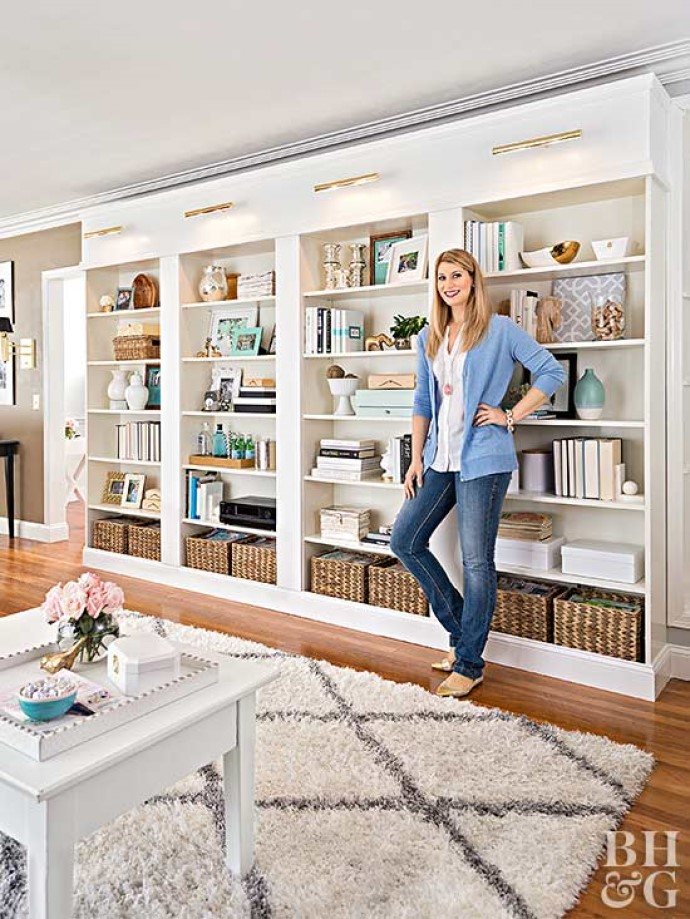 home library White Shelving to Store Books and Collectibles