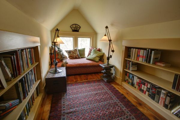 storage ideas for attic rooms - 62 Home Library Design Ideas With Stunning Visual Effect