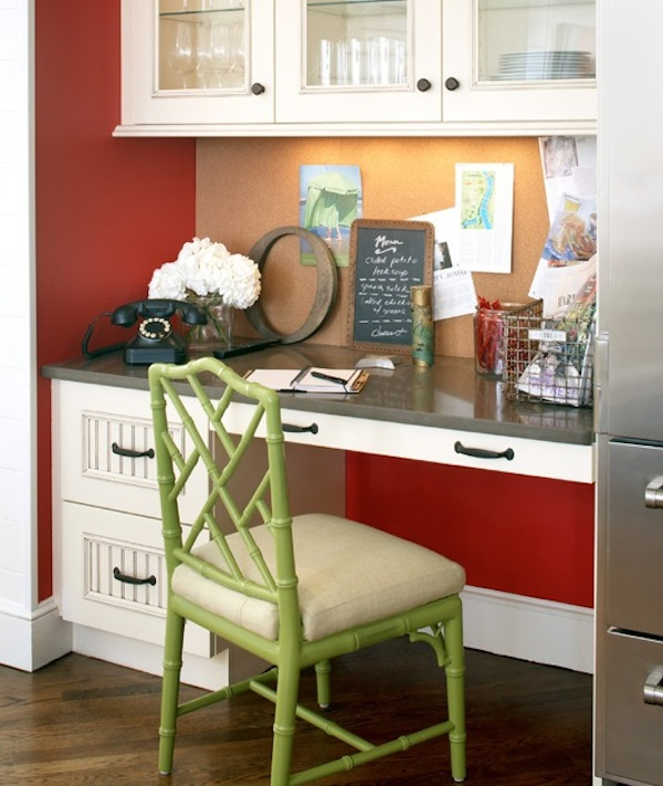 Desk In Kitchen Design Ideas Part - 39: 20 Clever Ideas To Design A Functional Office In Your Kitchen