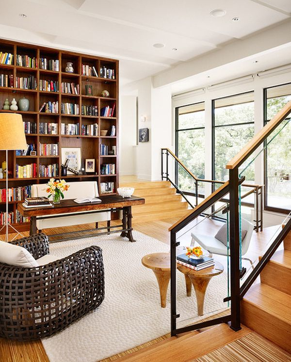 Nice Home Office Libraries.