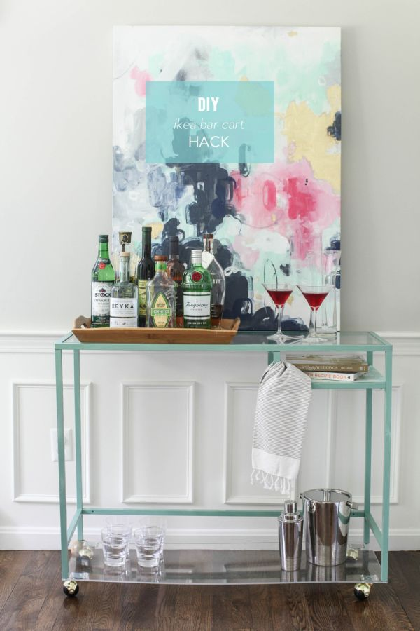14 inspiring diy bar cart designs and makeovers. Black Bedroom Furniture Sets. Home Design Ideas