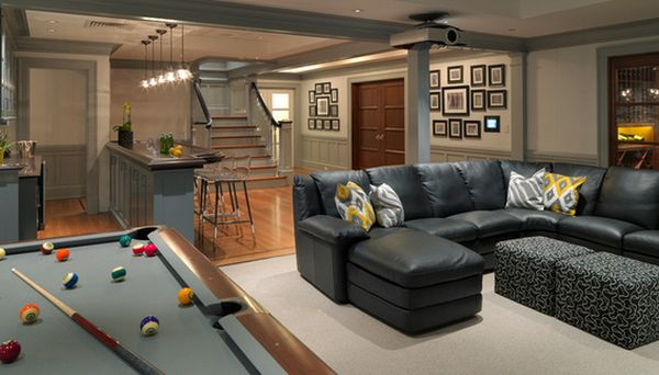 Entertainment Space In The Basement.