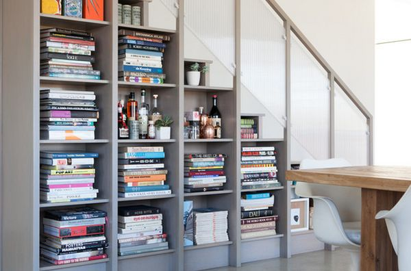 Stair Bookshelf 62 home library design ideas with stunning visual effect