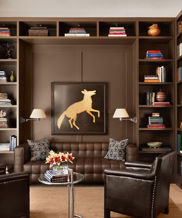 Small Office Den Decorating Ideas: 62 Home Library Design Ideas With Stunning Visual Effect