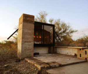 Tiny Steel And Glass Desert Shelter With Room For Only A Bed