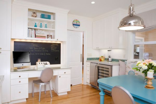 20 Clever Ideas To Design A Functional Office In Your Kitchen