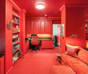 Dipped in Cherry: Monochromatic Rooms