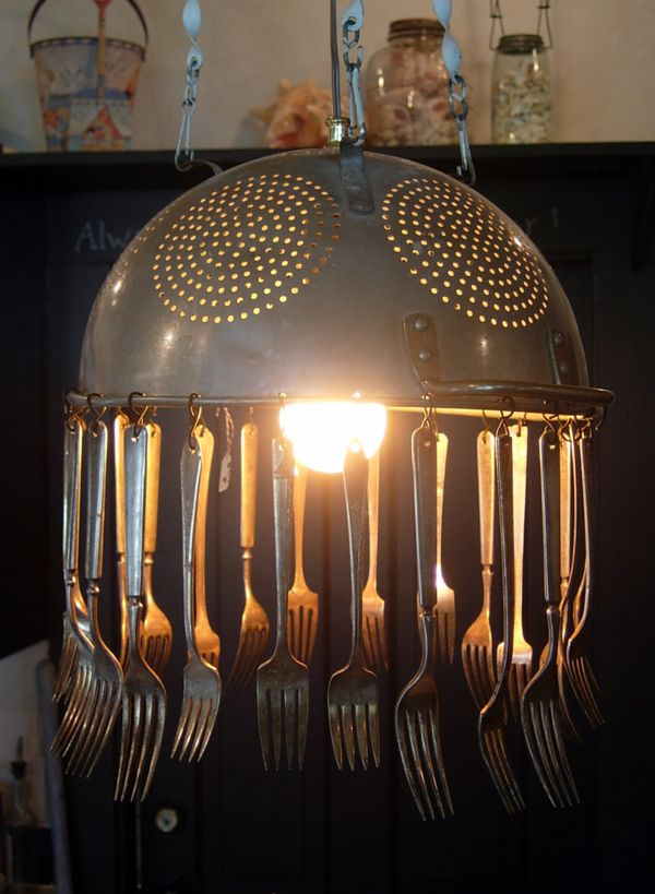 How To Transform Simple Kitchen Utensils Into Light Fixtures