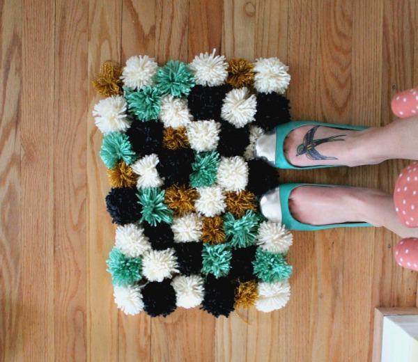 diy yarn rug