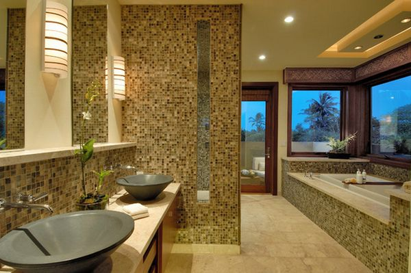 Top uses for mosaic tiles around the house for View bathroom designs