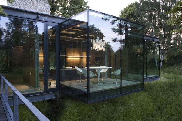 House Designs Featuring Glass Extensions Enjoy Nature From The
