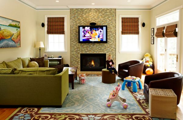 Normal Living Rooms With Tv the pros and cons of having a tv over the fireplace