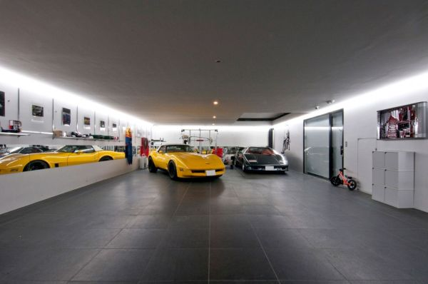 15 contemporary houses and their inspiring garages - Decoration garage automobile ...