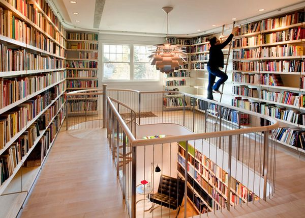 view in gallery - Library Design Ideas