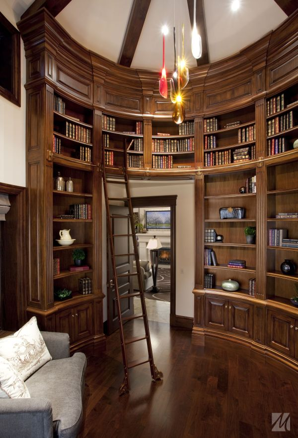 62 home library design ideas with stunning visual effect for Custom home library design