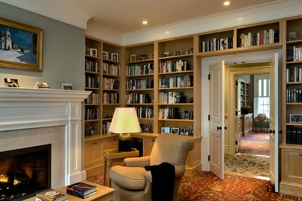 62 home library design ideas with stunning visual effect - Bibliotheque salon design ...