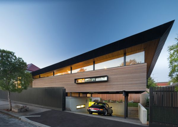 15 contemporary houses and their inspiring garages for Contemporary carport design architecture