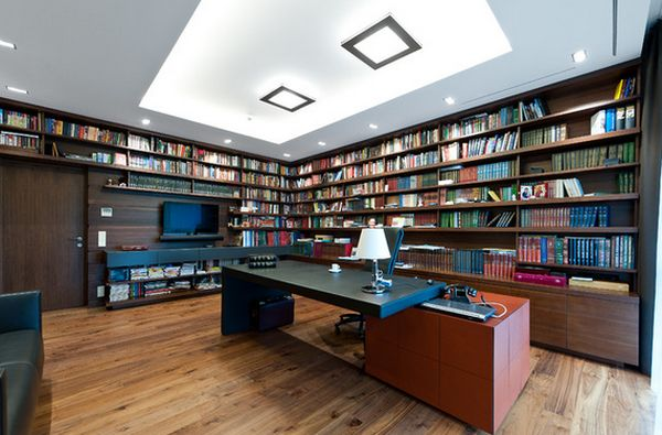 62 home library design ideas with stunning visual effect for Office design hamra