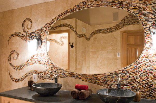 Top uses for mosaic tiles around the house for Types of mirrors around the house