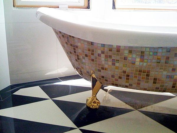 Diy mosaic projects with which you can change your homes dcor mosaic bathtub solutioingenieria Gallery