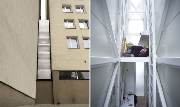 Keret House From 122 Centimeters And 72 In Its Narrowest Spot