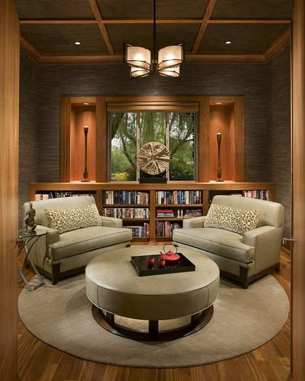 Make A Living Room A Library: 62 Home Library Design Ideas With Stunning Visual Effect