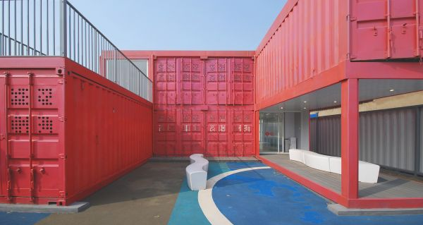 Modern Classroom Structure ~ Flexible and modern community center in shanghai made of