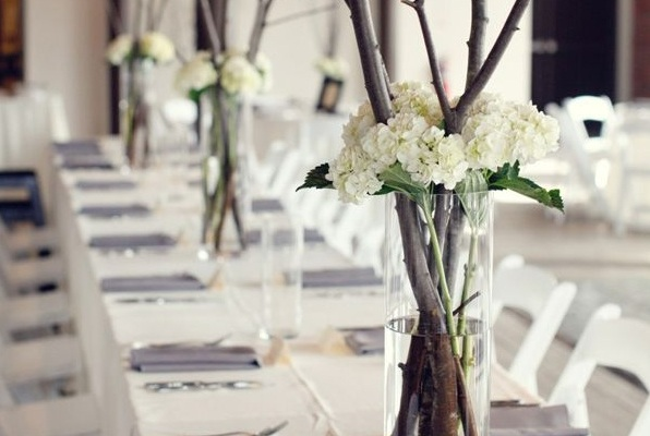 Find inspiration in nature for your wedding centerpieces 40 creative ideas - Decoration table mariage nature ...