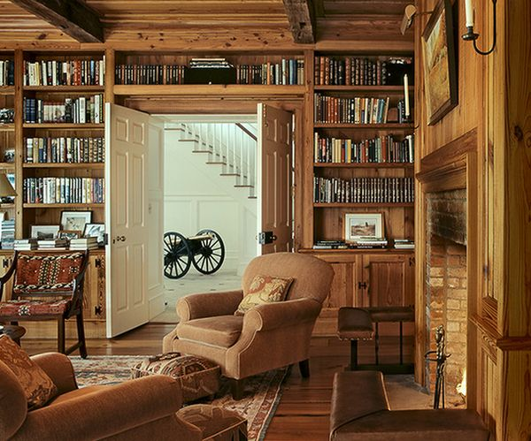 62 home library design ideas with stunning visual effect Traditional home library design ideas