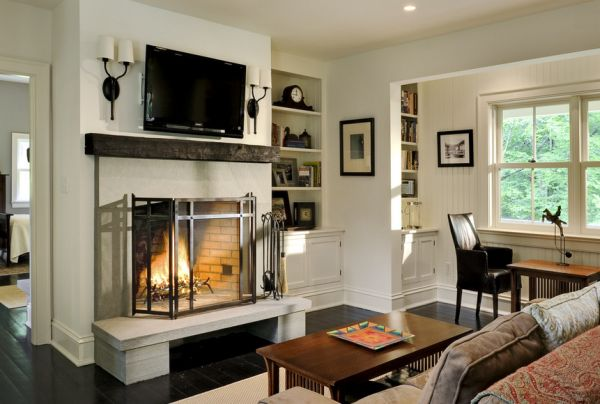 the pros and cons of having a tv over the fireplace rh homedit com picture above fireplace size picture above fireplace feng shui