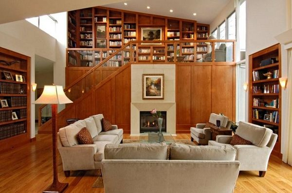 An Upstairs Home Library