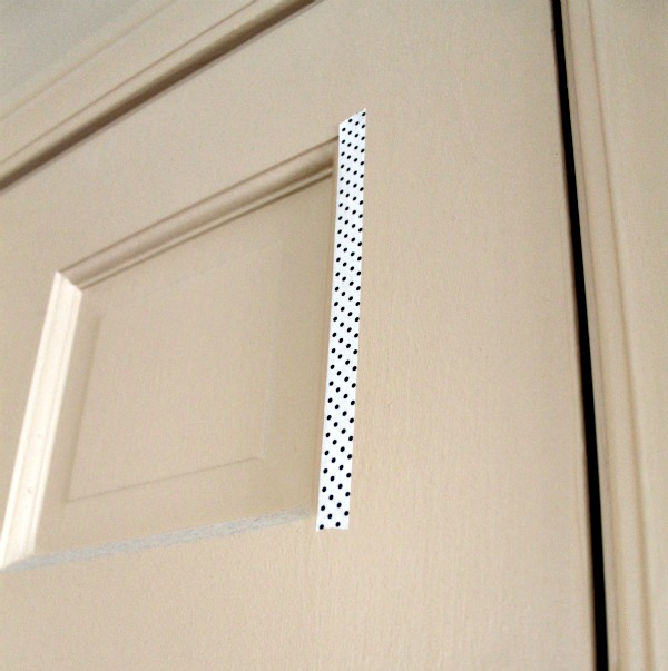 washi tape on door & Decorate Doors With Washi Tape