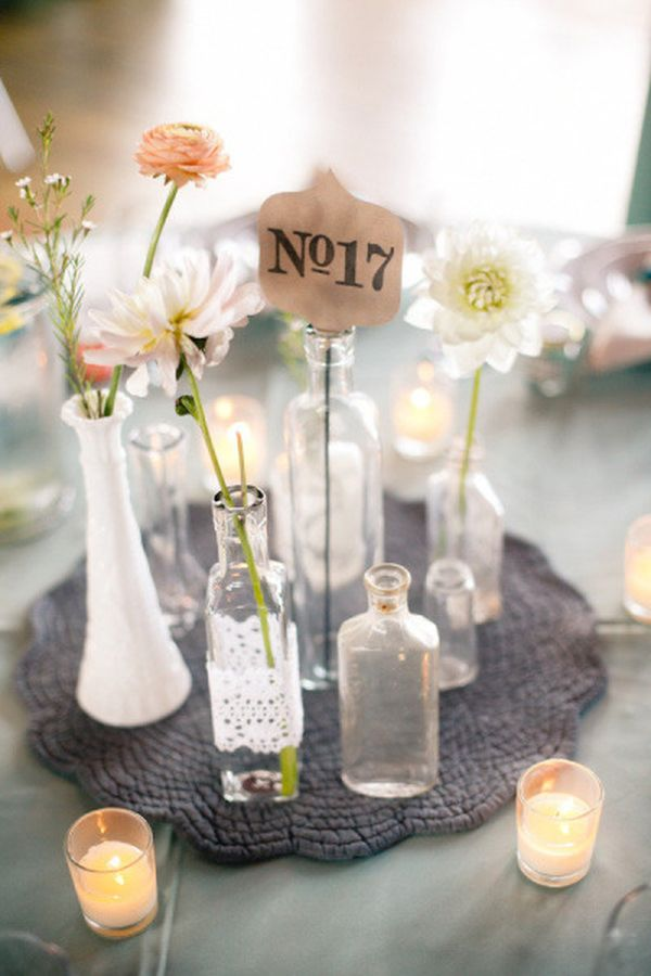 Small Vase Centerpiece Ideas : Find inspiration in nature for your wedding centerpieces